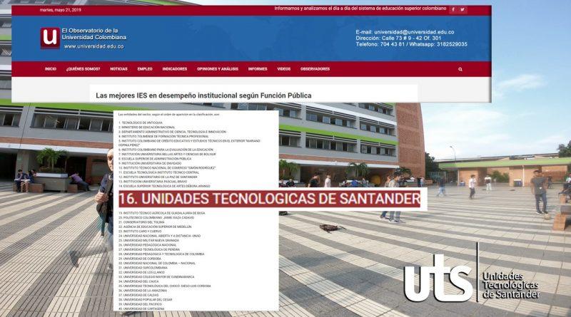 UTS entre las mejores IES de Santander en desempeño institucional