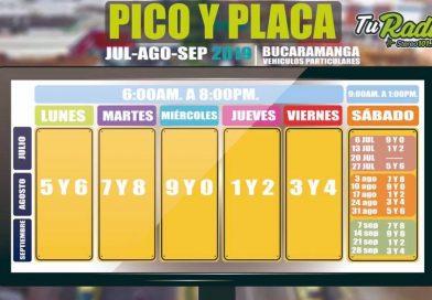 No olvides el nuevo Pico y Placa en Bucaramanga
